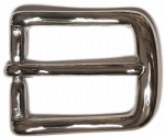 25mm Nickel Plated Curved Belt Buckle. Code WJ3